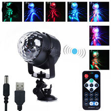 3W RGB Magic Rotating Ball Effect LED Stage Light KTV Party Disco DJ + Control