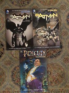 Batman-New-52-Vol-1-2-Court-of-Owls-TPB-Snyder-DC-2013-Penguin-Triumphant