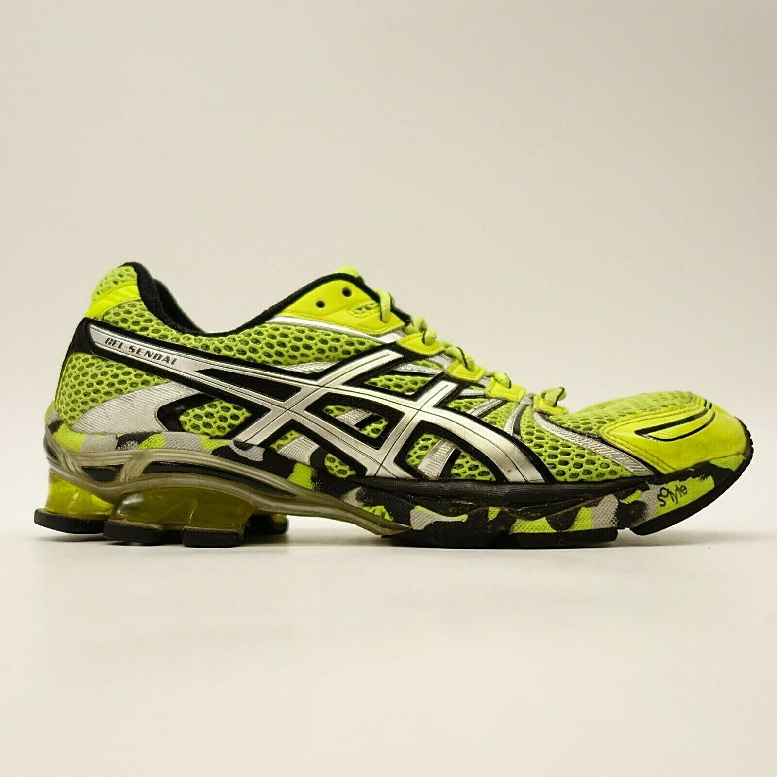 Asics Gel Sendai T31DQ Herren US 9,5 Eu 43.5 Neongelb Athleten Laufschuhe