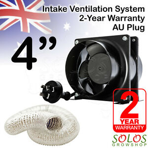 Image is loading 4-100mm-HYDROPONIC-FAN-EXHAUST-VENTILATION-KIT-AXIAL-  sc 1 st  eBay & 4u201d/100mm HYDROPONIC FAN EXHAUST VENTILATION KIT AXIAL EXTRACTOR ...