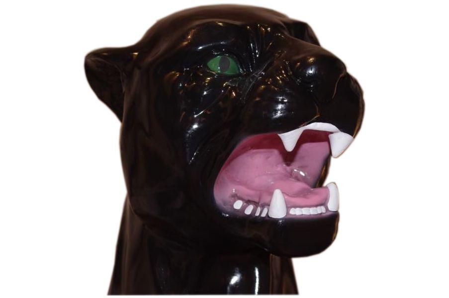 Panther Berglöwe Figur Raub Katze Puma Dekofigur Jaguar Lebensgroße Tierfiguren