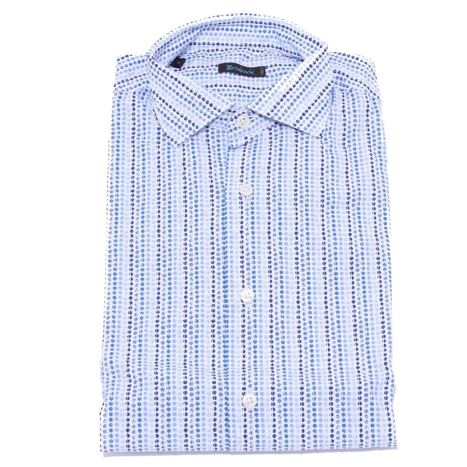 4835Y camicia uomo BROUBACK bianca blu cotton shirt shirt shirt man ac5348