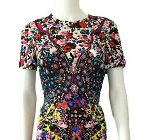 Mary-Katrantzou-Dress-Size-2-Silk-Short-Sleeves-Mint-Condition-Floral