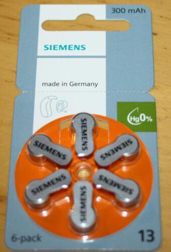 Signia Piles pour Appareil Auditif 13er Siemens
