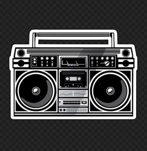 """3/"""" Hip Hop Boom Box old school rap stéréo Rock 90 S Skate Autocollant Die Cut"""