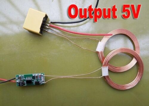 RX 5V-12V Wireless Charging Module Power Supply Module Coil DIY TX