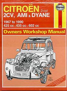 citroen 2cv shop repair manual book haynes ami 6 8 3cv dyane 2 cv rh ebay com citroen 2cv service manual citroen 2cv repair manual