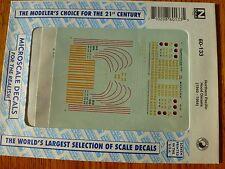 Microscale Decal N  #60-133 NP Diesels- Hoods - Roman Lettering