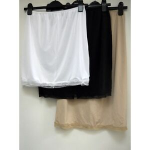 New-ex-M-amp-S-Cool-Comfort-Lace-Trim-Waist-Slip-Slinky-Cling-Resistant-Underskirt