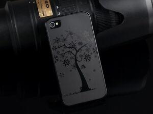 Apple-iPhone-5-5S-Titanium-Aluminium-Metal-Case-Lucky-Tree-Logo