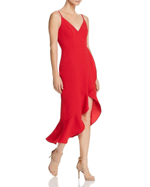 AQUA High Low Flounced Dress MSRP  228 Size 4 A 551 NEW