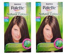 2 NAPRO PALETTE NATURAL COLOURS PERMANENT HAIR COLOUR 6.0 LIGHT BROWN  Brand New