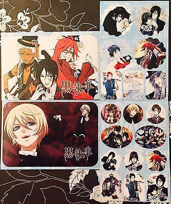 Kuroshitsuji Black Butler-CIEL SEBASTIAN ALOIS CLAUDE 4 Sticker Sheets #K1