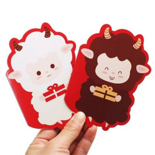 FD2984 Lucky Sheep X/'mas Party Greeting Wishing Holiday Festival Card Gift 1PC ☆