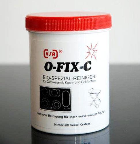 3,92EUR//100gr VSR O-FIX-C BIO-Reiniger für Glaskeramik-Kochfelder 1 Dose 250gr