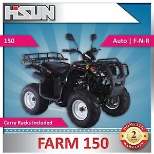 New Off Road F150 Farm Quad Bike 150cc F-N-R Rear Wheel Drive with Carry Racks