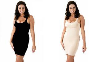 fa83685fed27 Body fit Shape-wear Full Length Control Slip Under Dress Black or ...
