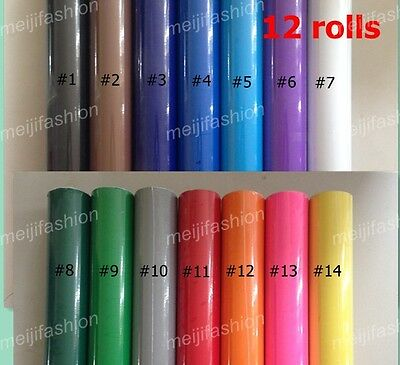 GLOSS 12 VINYL ROLLS Vinyl Cutter  Plotter, each roll 60cm*8m cutting plotter