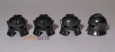 Orc Black//Silver Helmets for Castle 4x Lego Troll Kingdoms BRAND NEW 4519686