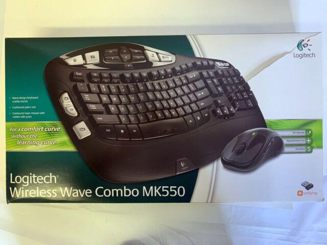 Logitech MK550 Wireless Combo Keyboard K350 Mouse M510  Black