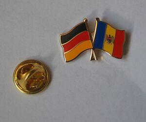 Freundschaftspin-Deutschland-Moldawien-Moldau-Pin-Button-Badge-Anstecker-AS