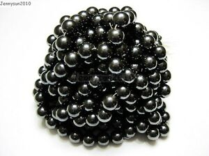Natural-MAGNETIC-Hematite-Gemstones-Round-Beads-16-039-039-4mm-6mm-8mm-10mm-12mm