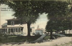 Hannibal-NY-Cayuga-St-c1910-Postcard