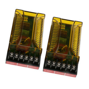 2Pcs-2-Way-Hi-Fi-Speaker-Car-Audio-Frequency-Divider-Crossover-Filters