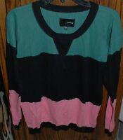 Xl $55 Hurley Lightweight Multi-color Bruna Sweater