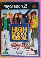 DISNEY HIGH SCHOOL MUSICAL SING IT PS2 SOLUS GAME BRAND NEW & SEALED ORIGINAL UK