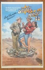 Smokey and the Bandit Movie Poster Burt Reynolds reproduction metal sign 8 x 12