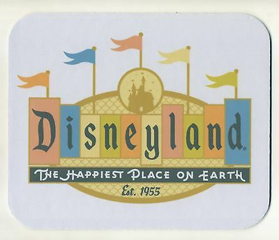 Classic DISNEYLAND - THE HAPPIEST PLACE ON EARTH 1955 -MOUSE PAD - FREE SHIPPING