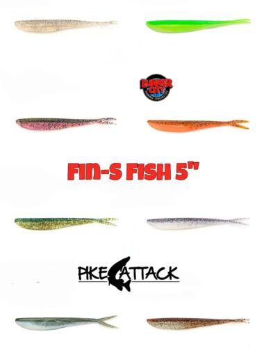 "10 Stück Gummiköder Lunker City Fin-S Fish 5/"" Softbait 12,5 cm"