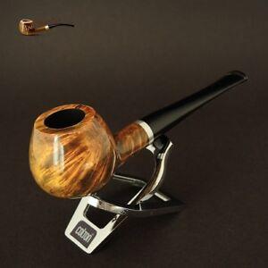 HAND-MADE-WOODEN-TOBACCO-SMOKING-PIPE-BRUYERE-no-73-Olive-Straight-Briar-BOX