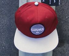 Rvca Skate Crew Rounds Burgundy 5 Panels Mens Snapback Hat HTRVC-10