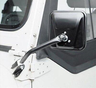1976-1995 Jeep Wrangler &  CJ7 CJ5 CJ8 Windshield Mount Side View Mirrors Black