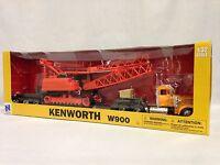 Kenworth W900 Lowboy Trailer W/ Crane Crawler Diecast 1:32 Scale Ray Toys Or