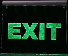 EXIT   LEUCHTSCHILD  - LED Gravur Hinweisschild Ausgang