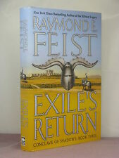 1st,signed by authr,Riftworld-Conclave of Shadows 3:Exile's Return,Raymond Feist