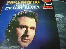 "FOSFORITO, A LA GUITARRA PACO DE LUCIA - S/T, LP 12"" SPAIN FLAMENCO 1971"