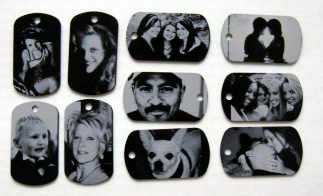 Personalized Metal Photo Dog Tag Necklace/Keychain - Free Custom Engraving