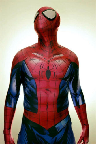 New Ultimate Spiderman One-piece Jumpsuit Adult Unisex Cosplay Costume /& Mask
