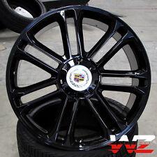 "24"" Style CA83 Gloss Black Platinum Wheels Fits Cadillac Escalade ESV EXT Rims"