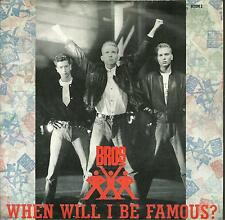 "7A2 140623 used vinyl 7"" BROS WHEN WILL I BE FAMOUS ? LOVE TO HATE YOU"