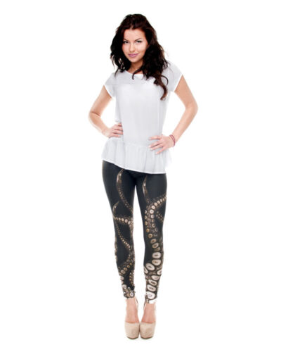 Women Octopus Arms 3D Graphic Print Stretchy Pencil Fit Yoga Leggings New