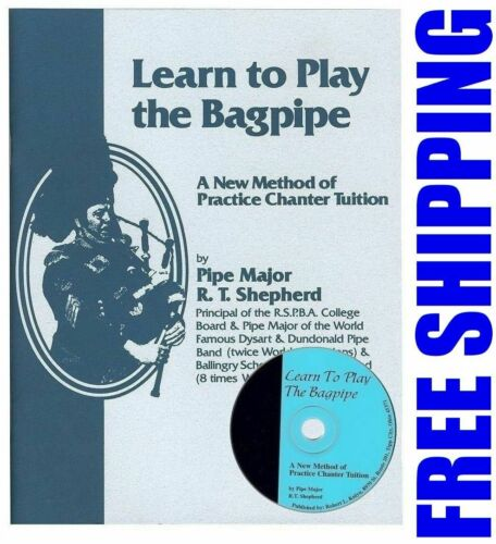 Learn to Play Bagpipes Bagpipe Manual BOOK and CD FREE SHIPPING