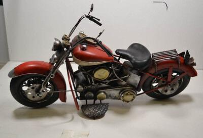 Us-style Rot/weiß 38 X 14 X 24 Cm Blech-motorrad 14