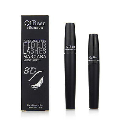2Pcs Black Makeup Eyelash Long Curling Fiber 3D Mascara Eye Lashes Extension A