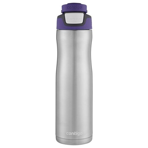 Contigo AUTOSEAL Chill Insulated Water Bottle 24oz SS Grapevine Purple Stainless