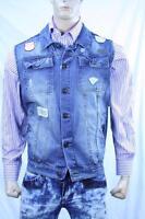 Authentic I Link Men's Denim Cotton Vest Us Xl